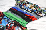 Avengers Assemble (black inner - two-toned red caps / silver pieces) <br>ONE OF A KIND<br>One Size Pocket Diaper<br>Instock and Ready to Ship