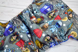 Whovians Everywhere (royal snaps)<br>Performance Knit Traditional, One Size Pocket Diaper<br>Instock and Ready to Ship