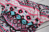 Magenta Aztec (Inner- Black, Snaps- Two Toned; Seaspray Caps, Black Pieces) <br>Traditional, One Size Pocket Diaper<br>Instock and Ready to Ship