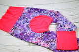 Flowering Butterflies (hot pink)<br>Bella Bum Pants<br>Instock and Ready to Ship
