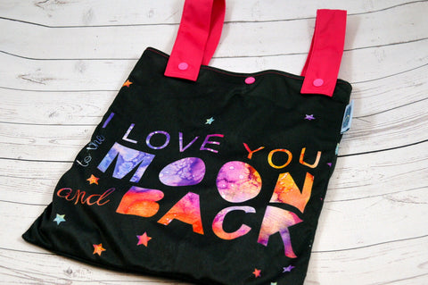 "Love you to the Moon, 12"" x 14"" PK Designer Printed Double Hanging Wetbag<br>Instock and Ready to Ship"