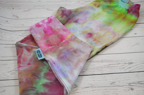 Size Small Berry Beautiful<br>Hand Dyed Cotton Lycra Mama Leggings<br>Instock and Ready to ship