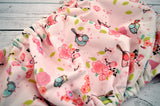 Light Pink Spring Birdie (two-toned snaps- seaspray caps / light pink pieces)<br>Traditional, One Size Pocket Diaper<br>Instock and Ready to Ship