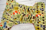 Woodland Buddies (brown inner & snaps) <br>Traditional, One Size Pocket Diaper<br>Instock and Ready to Ship