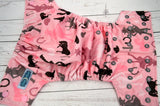 Cowgirls and Ponies (raspbery inner, two toned light pink and silver snaps) <br>Traditional, One Size Pocket Diaper<br>Instock and Ready to Ship