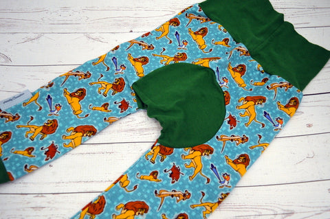 Lions and Foes (green accent) <br>Bella Bum Pants<br>Instock and Ready to Ship