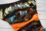 Turquoise & Orange Deer Tracks Insanity Scrappy<br>ONE OF A KIND<br>One Size Pocket Diaper<br>Instock and Ready to Ship