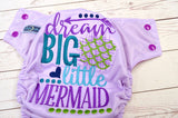 Dream Big #2 ( Lavender pul, Violet awj & Snaps) <br>Embroidered, One Size Pocket Diaper<br>Instock and Ready to Ship