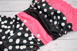 Pinky Polka ( white snaps )<br>Boutique Scrappy, One Size Pocket Diaper<br>Instock and Ready to Ship