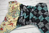 Live Bold with Argyle ( two-toned snaps - seaspray caps / silver pieces ) <br>ONE OF A KIND<br>One Size Pocket Diaper<br>Instock and Ready to Ship