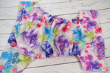 Watercolor Butterflies WITH Ruffle Snaps (magenta awj, hot pink snaps) <br>Traditional, One Size Pocket Diaper<br>Instock and Ready to Ship