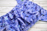 Blue Roses ( light blue snaps ) <br>Traditional, One Size Pocket Diaper<br>Instock and Ready to Ship