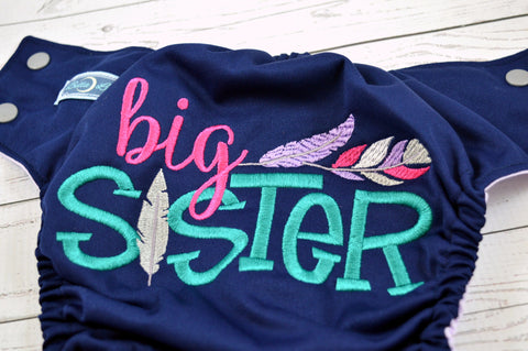 Big Sister<br>Custom, One Size Diaper