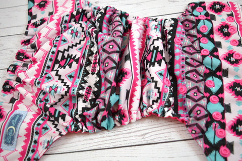 Magenta Aztec (magenta awj, hot pink snaps)<br>Traditional, One Size Pocket Diaper<br>Instock and Ready to Ship