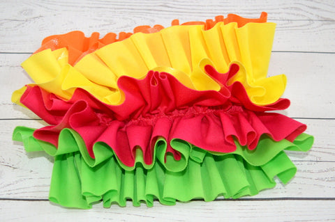 Magenta Base, Orange/Citron/Magenta/Spring Green <br>OS Ruffle