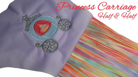 *RESERVED* Princess Carriage DoD Embroidered Half & Half *PRE ORDER*<br>One Size Cloth Pocket Diaper for Shannon Williams