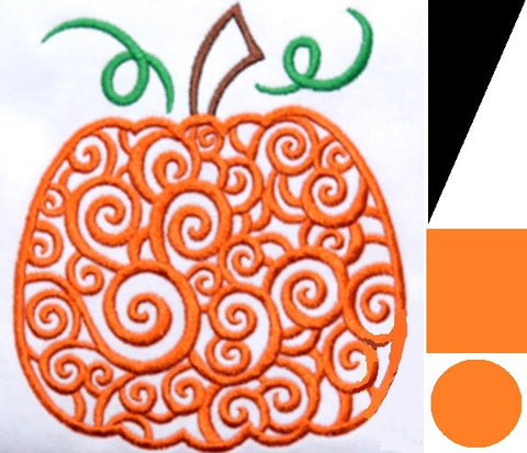 *RESERVED* Scrolly Pumpkin DoD Embroidered *PRE ORDER* <br>Your choice of 2 outer PUL colors!<br>One Size Pocket Diaper for Liz Hatley