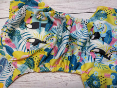 Tucan Jungle, One Size Pocket Diaper<br>Instock and Ready to Ship