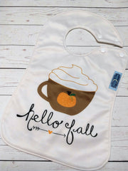 Hello Fall, Boutique Bib<br>Instock and Ready to Ship