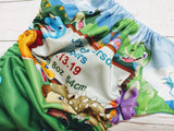 Dino Fun<br>Custom, Digi Birth Announcement<br>One Size Pocket Diaper