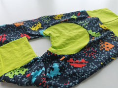 Space Invaders with Lime Green Accent, Mini Bumz Tester Pants, IN STOCK