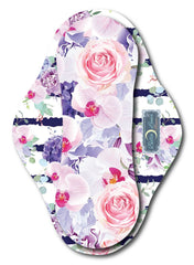 Purple Floral Arrangement Stripe (bottom)<br>Mama Cloth<br>*PRE ORDER*