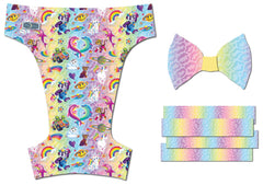 Neon 90s<br>Printed PUL Traditional<br>One Size Pocket Diaper OR Cover Pre Order