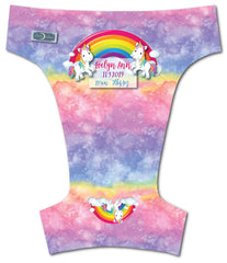 Rainbow Unicorn<br>Custom, Digi Birth Announcement<br>One Size Pocket Diaper