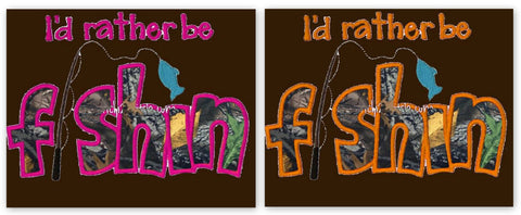 I'd Rather Be Fishin Embroidered *PRE ORDER* <br>Choice of Hot Pink OR Orange Colorway<br>One Size Cloth Pocket Diaper