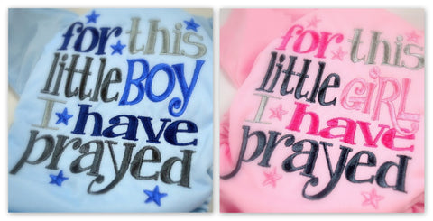 For This Boy/Girl Embroidered *PRE ORDER*<br>Choice of Boy or Girl Colorway<br>One Size Cloth Pocket Diaper