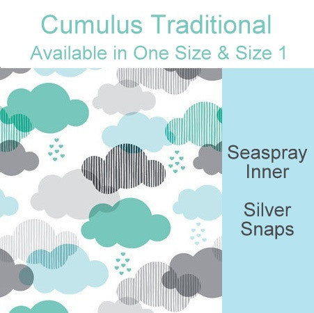 *RESERVED* Cumulus DoD Traditional *PRE ORDER*<br>Newborn/Size 1 -OR- One Size Cloth Pocket Diaper for Janine Keats