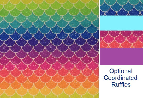*RESERVED* Mermaid Scales DoD Traditional *PRE ORDER*<br>Newborn/Size 1 -OR- One Size Cloth Pocket Diaper for Stephanie Lortie