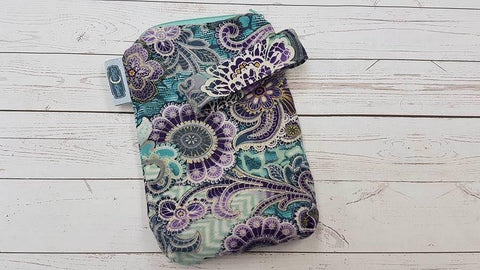 Mauve Paisley, Mini Mama Wetbag<br>Instock and Ready to Ship