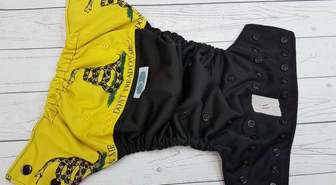 Don't Tread on Me (11) <br>One Size Pocket Diaper<br>Instock and Ready to Ship