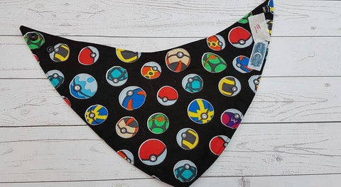 Poke Ball Bandana Bib (19) <br>Instock and Ready to Ship