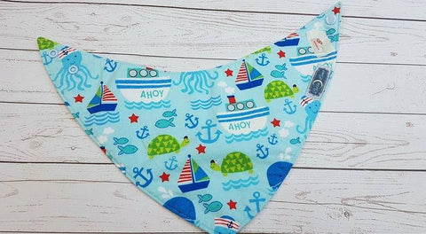 Ahoy Bandana Bib (18) <br>Instock and Ready to Ship