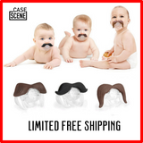 Mustache Baby Pacifiers