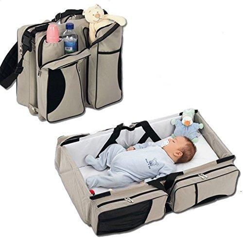 3-In-1 Travel Baby Bed, Changing Pad and Diaper Bag