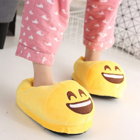Emoji Plush Slippers