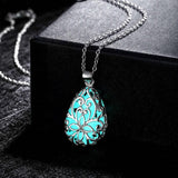 Bohemian Tear Drop Glow in the Dark Necklace