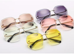 Diamond Cut Lens Cat Eye Sunglasses