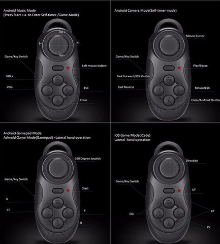 Wireless Gamepad and Camera Remote