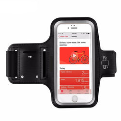 Smartphone Sweat-Proof Armband With Earphone and Key Holder