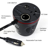 150W Car USB and Power Outlet Inverter