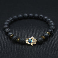 Antique Silver and Gold Hamsa Hand Bracelet