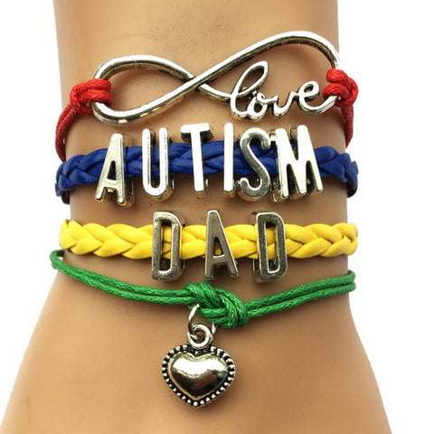 Autism Awareness Heart Charm