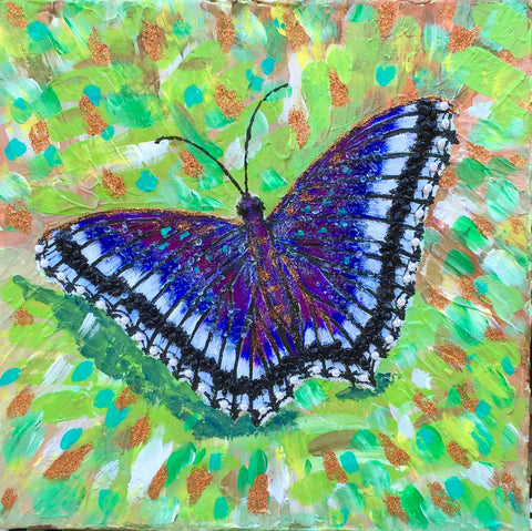 Butterfly on the green grass. - Irina Collister Art