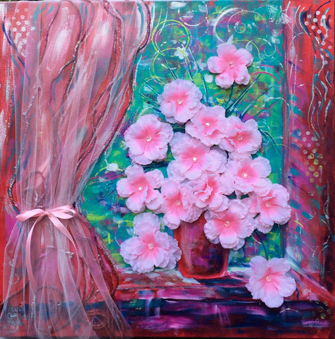 Romantically blooming evening. - Irina Collister Art