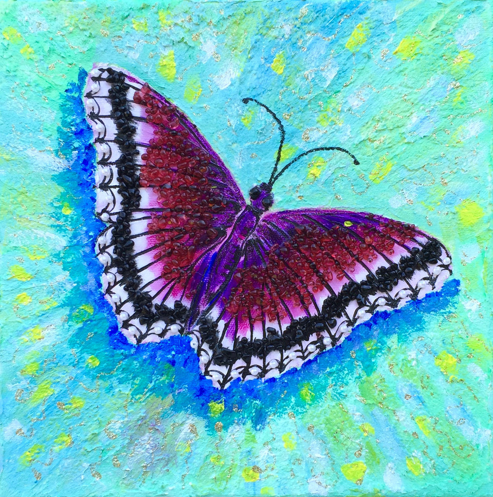Raspberry butterfly. - Irina Collister Art