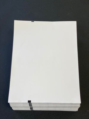 "8.5"" x 11"" Premium Fanfold Paper for Brother PocketJet Printers 1,000 Sheets per case (ref. OEM PN: LB3668)"